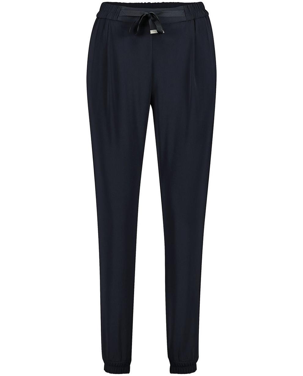 Pantalons - navy - Pantalon souple, cordon